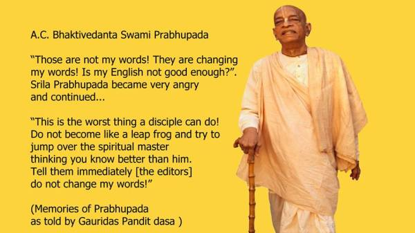 book changes quotes by Prabhupada
